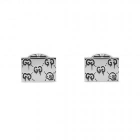 Gucci Gemelli Ghost rettangolari in argento